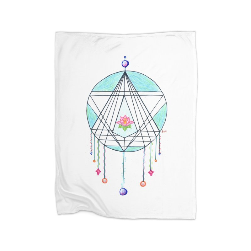 Dreamcatcher Home Fleece Blanket Blanket by The Life of Curiosity Store