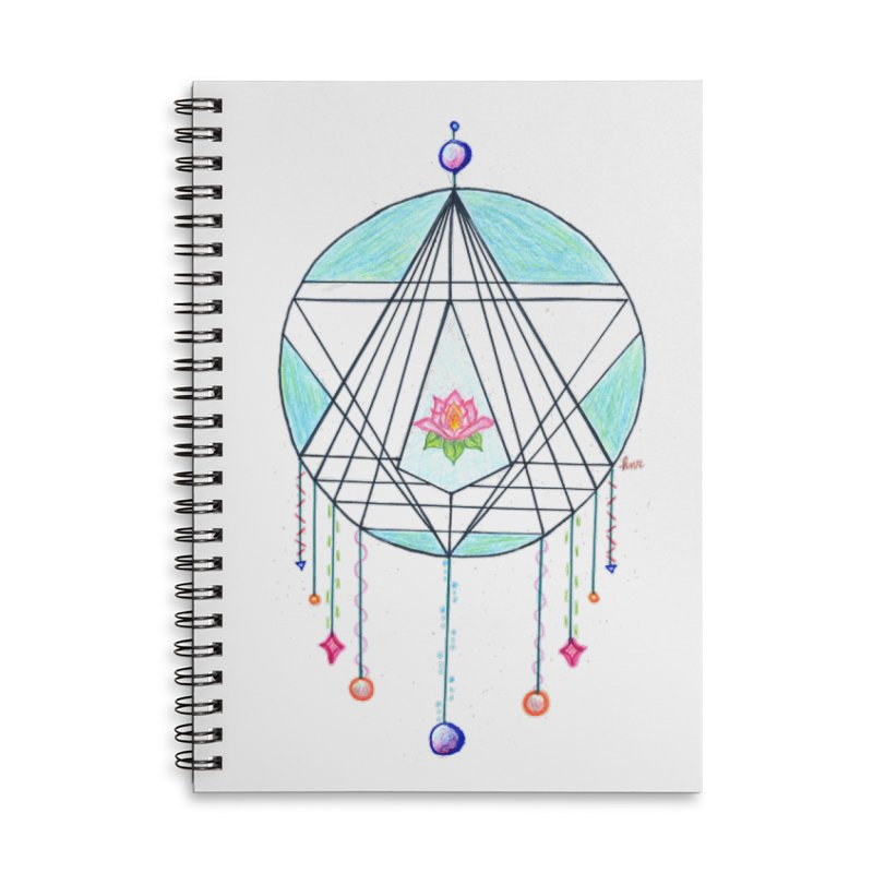 Dreamcatcher Accessories Lined Spiral Notebook by The Life of Curiosity Store