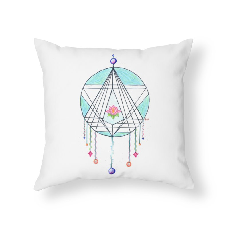 Dreamcatcher Home Throw Pillow by The Life of Curiosity Store