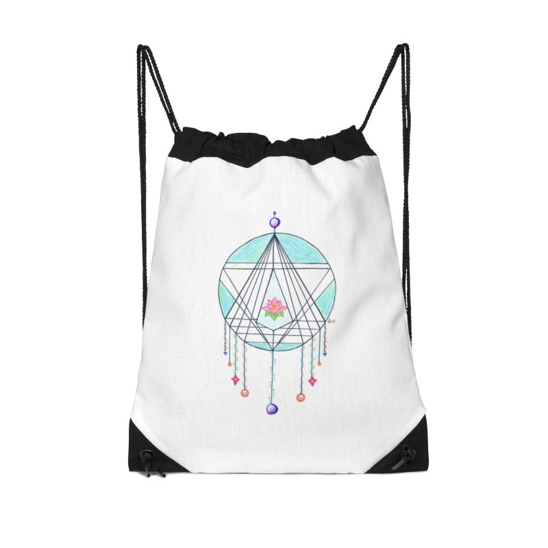 Dreamcatcher Accessories Drawstring Bag Bag by The Life of Curiosity Store