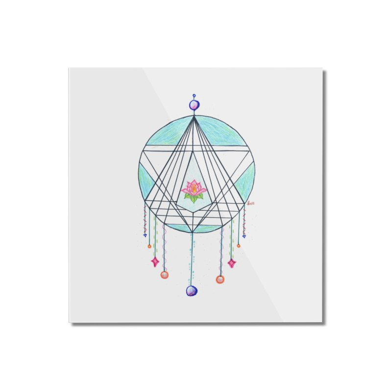 Dreamcatcher Home Mounted Acrylic Print by The Life of Curiosity Store