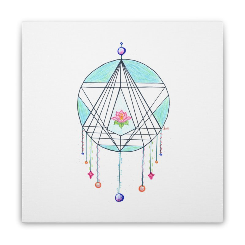 Dreamcatcher Home Stretched Canvas by The Life of Curiosity Store