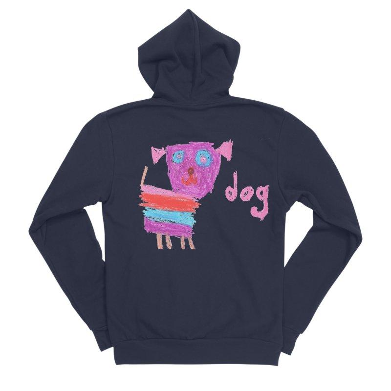 Dog Women's Sponge Fleece Zip-Up Hoody by The Life of Curiosity Store