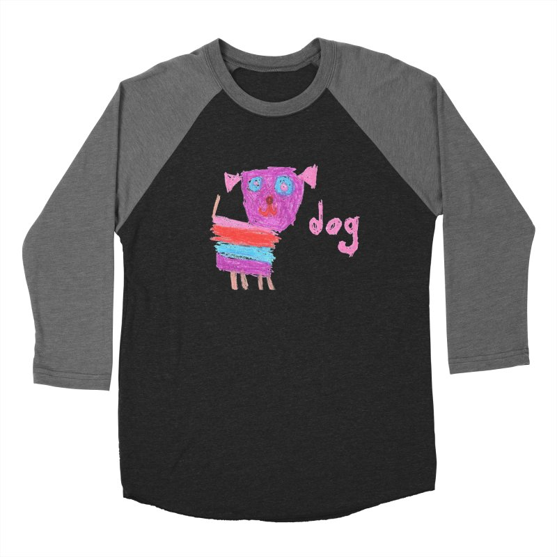 Dog Men's Baseball Triblend Longsleeve T-Shirt by The Life of Curiosity Store