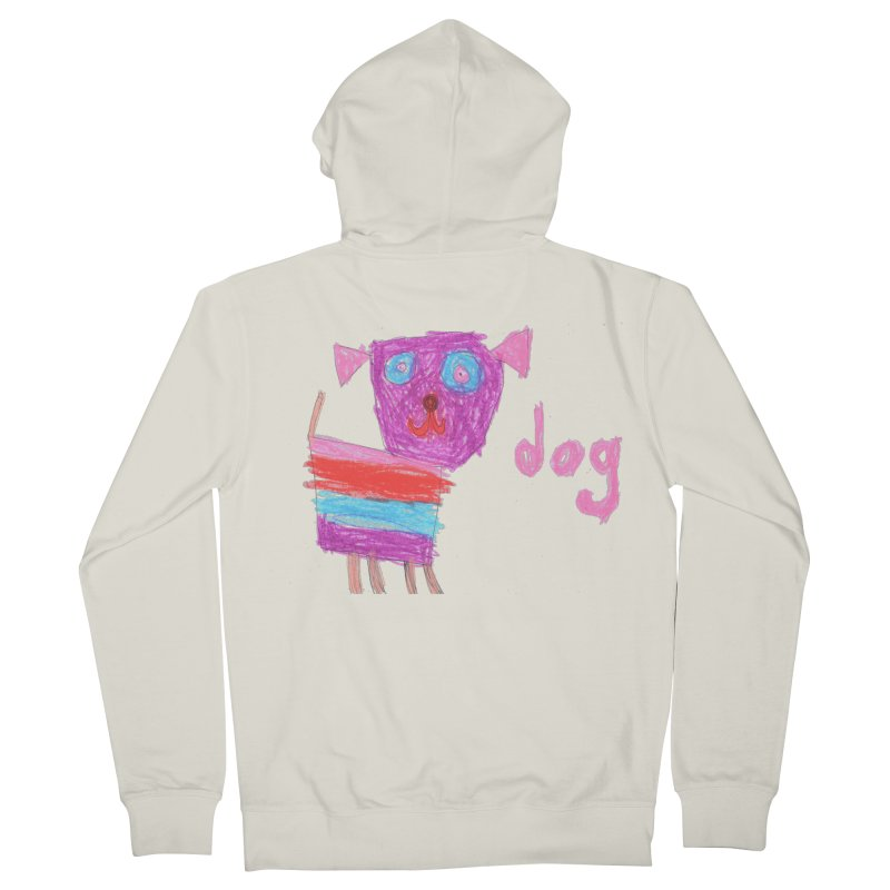 Dog Women's French Terry Zip-Up Hoody by The Life of Curiosity Store