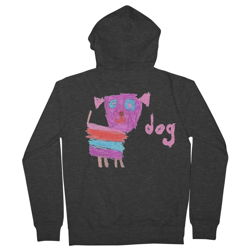 Dog Men's French Terry Zip-Up Hoody by The Life of Curiosity Store