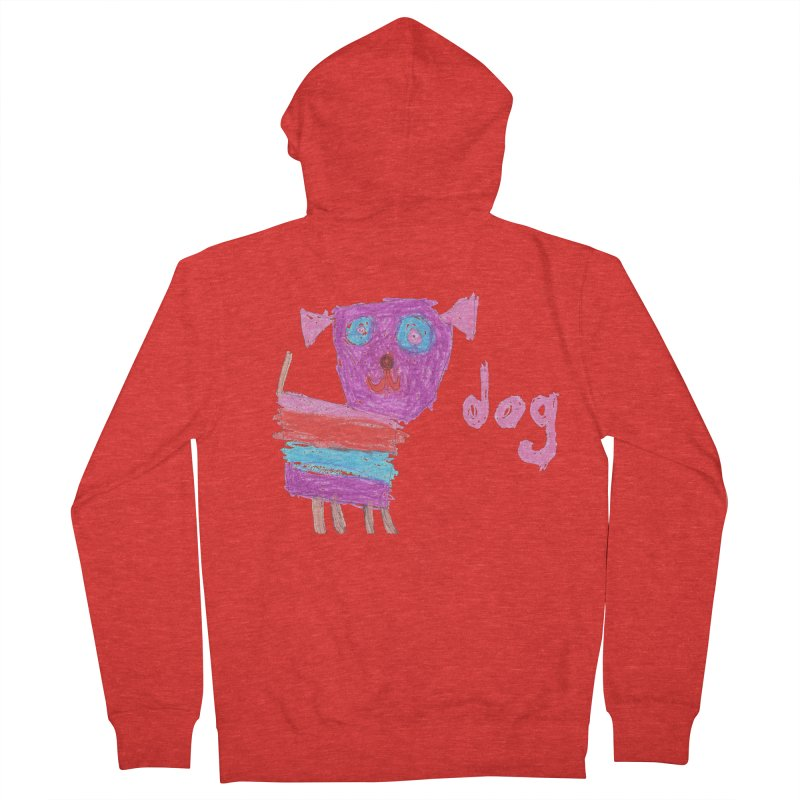 Dog Men's Zip-Up Hoody by The Life of Curiosity Store