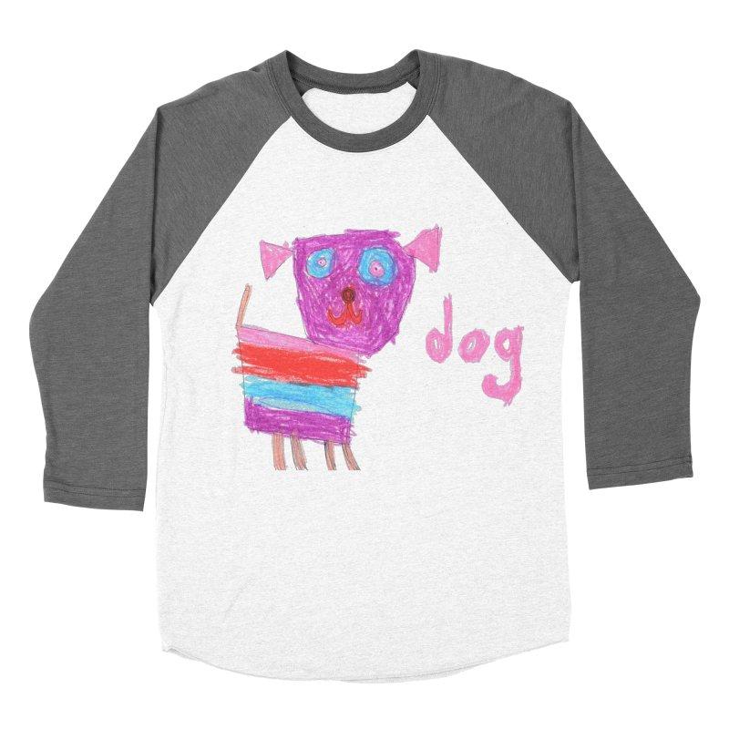 Dog Women's Baseball Triblend Longsleeve T-Shirt by The Life of Curiosity Store
