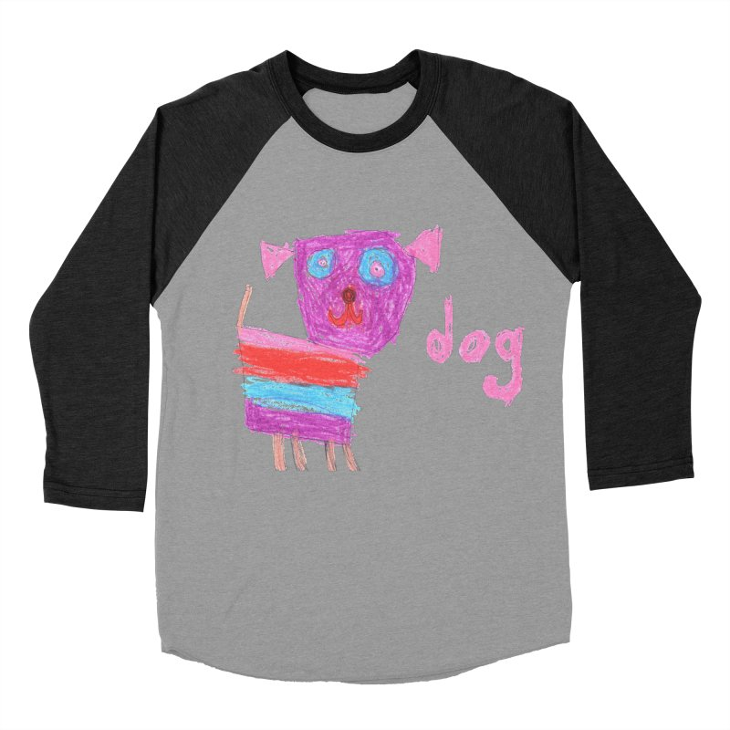 Dog Women's Baseball Triblend Longsleeve T-Shirt by The Life of Curiosity Store