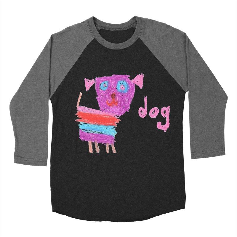 Dog Men's Baseball Triblend Longsleeve T-Shirt by The Life of Curiosity Store