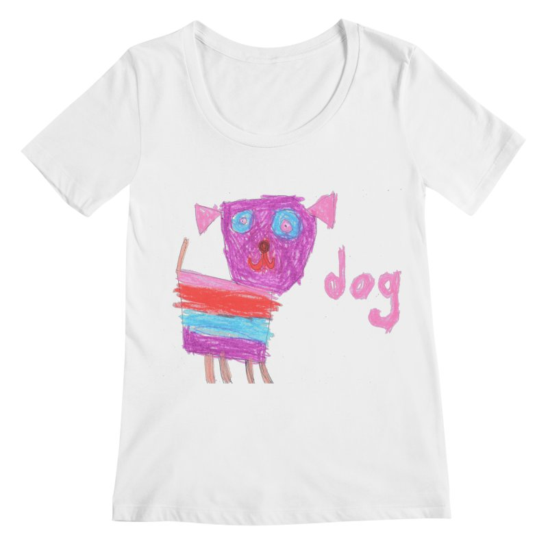 Dog Women's Regular Scoop Neck by The Life of Curiosity Store