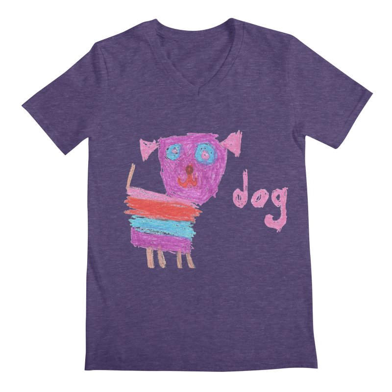 Dog Men's V-Neck by The Life of Curiosity Store