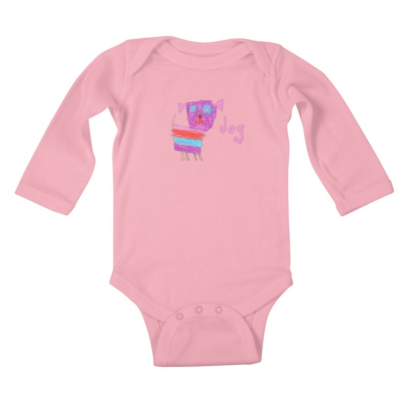 Dog Kids Baby Longsleeve Bodysuit by The Life of Curiosity Store