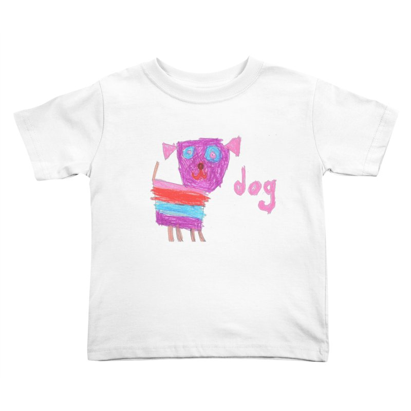Dog Kids Toddler T-Shirt by The Life of Curiosity Store