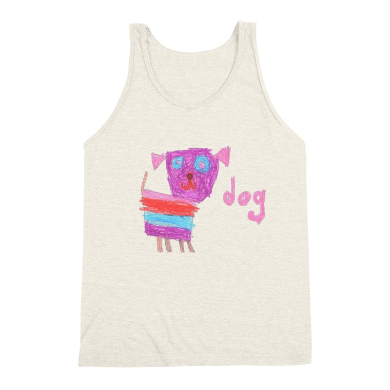 Dog Men's Triblend Tank by The Life of Curiosity Store