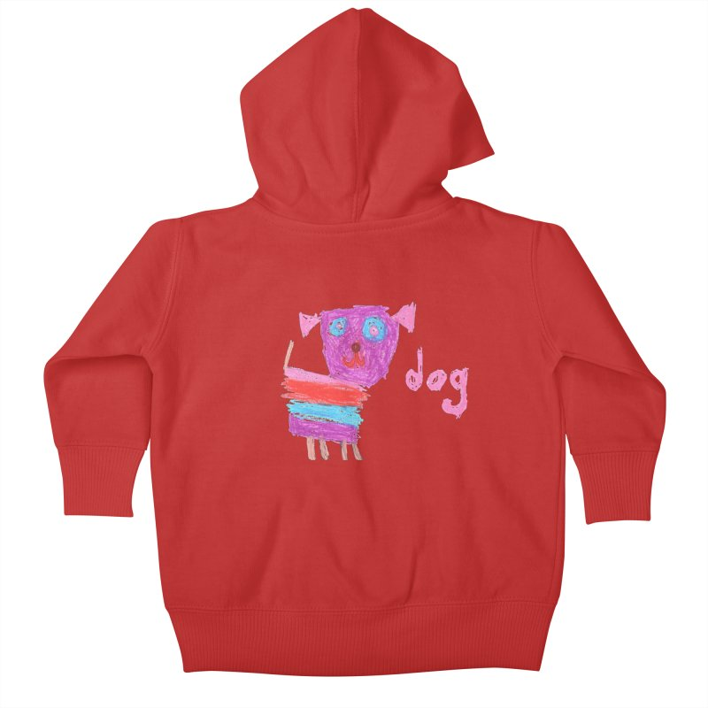 Dog Kids Baby Zip-Up Hoody by The Life of Curiosity Store