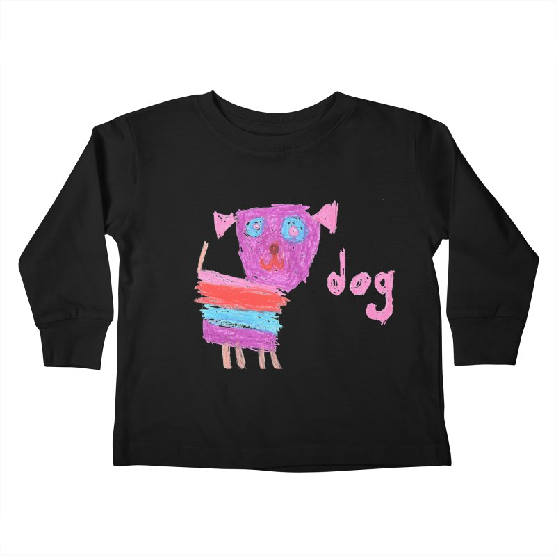 Dog Kids Toddler Longsleeve T-Shirt by The Life of Curiosity Store