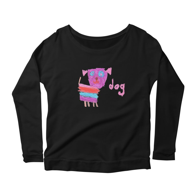 Dog Women's Scoop Neck Longsleeve T-Shirt by The Life of Curiosity Store