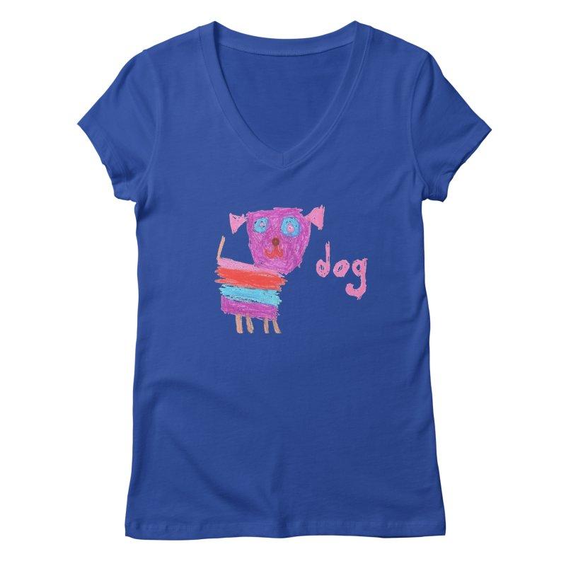 Dog Women's Regular V-Neck by The Life of Curiosity Store