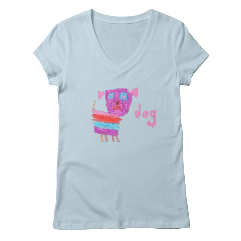 Dog Women's Regular V-Neck by The Life of Curiosity Store