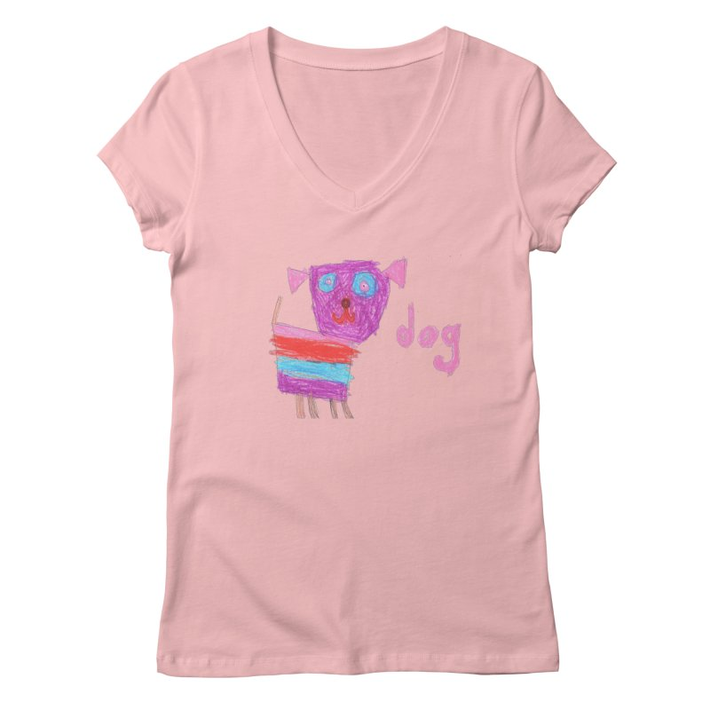 Dog Women's V-Neck by The Life of Curiosity Store