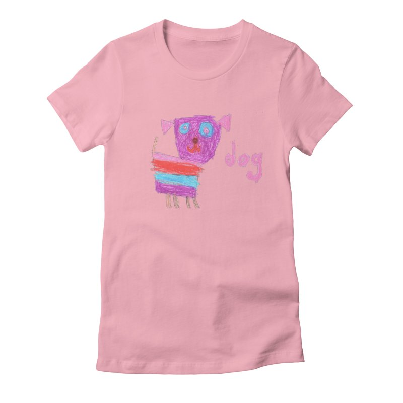 Dog Women's Fitted T-Shirt by The Life of Curiosity Store