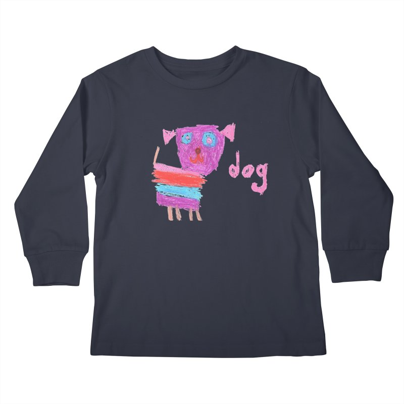Dog Kids Longsleeve T-Shirt by The Life of Curiosity Store