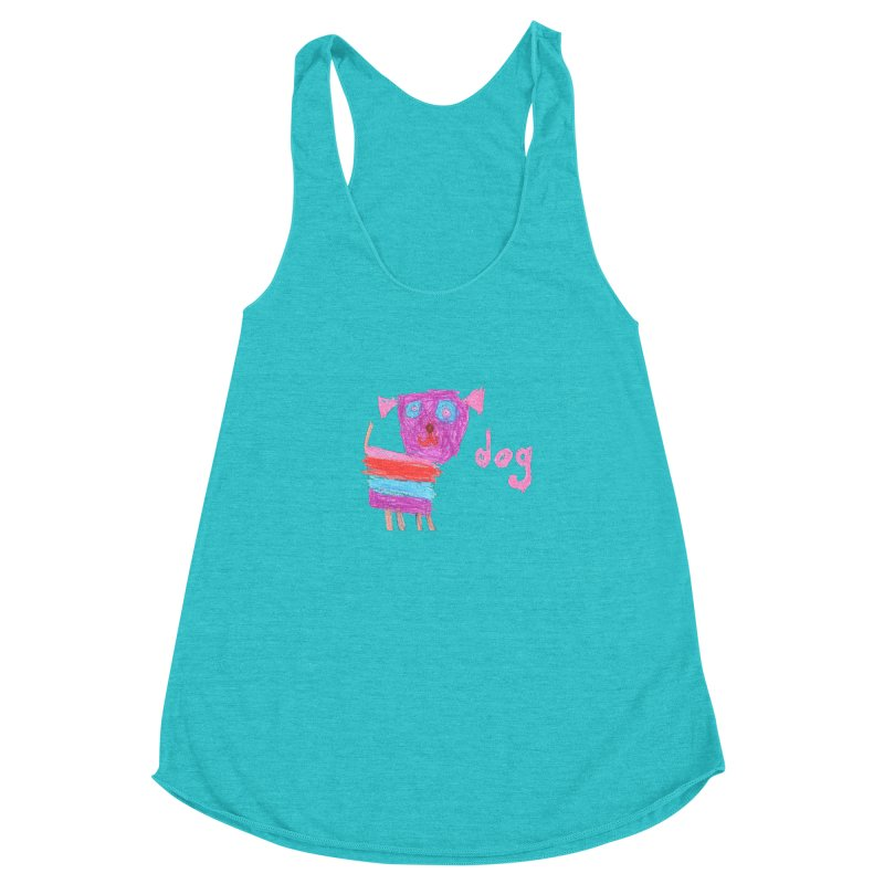 Dog Women's Racerback Triblend Tank by The Life of Curiosity Store