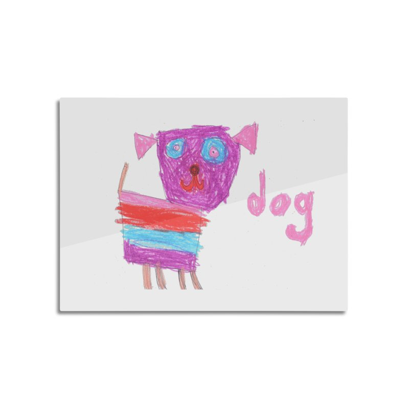 Dog Home Mounted Aluminum Print by The Life of Curiosity Store