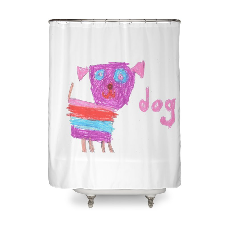 Dog Home Shower Curtain by The Life of Curiosity Store