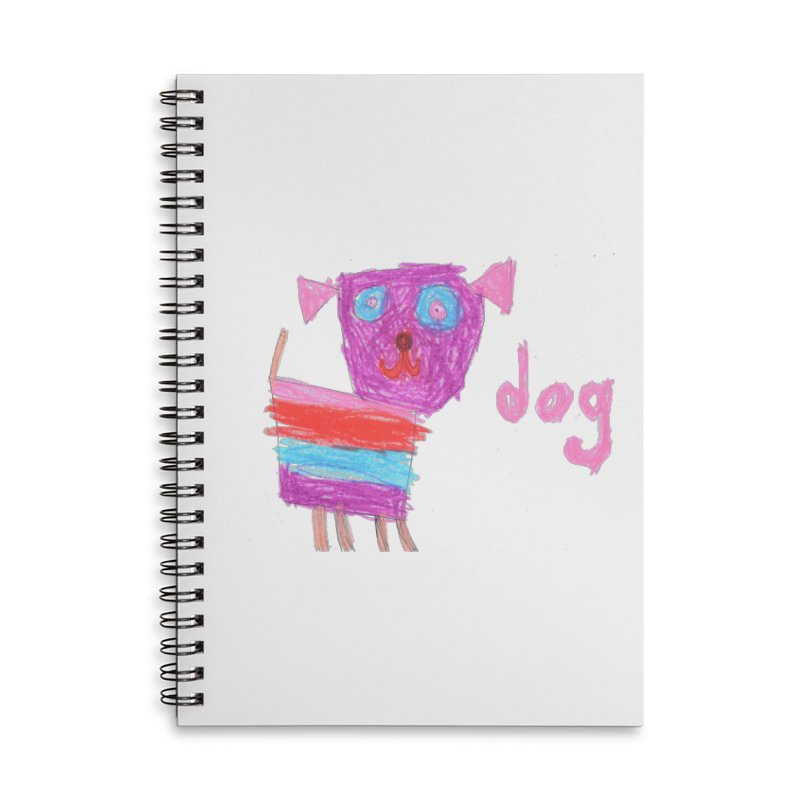 Dog Accessories Lined Spiral Notebook by The Life of Curiosity Store