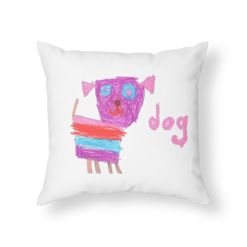 Dog Home Throw Pillow by The Life of Curiosity Store