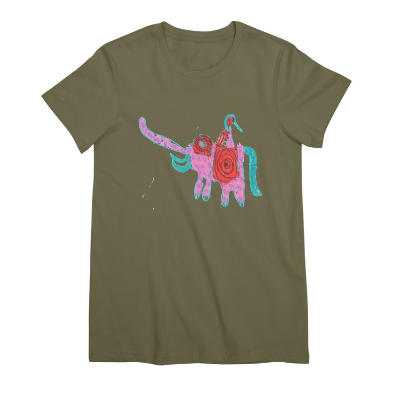 Elephant Rider Women's Premium T-Shirt by The Life of Curiosity Store