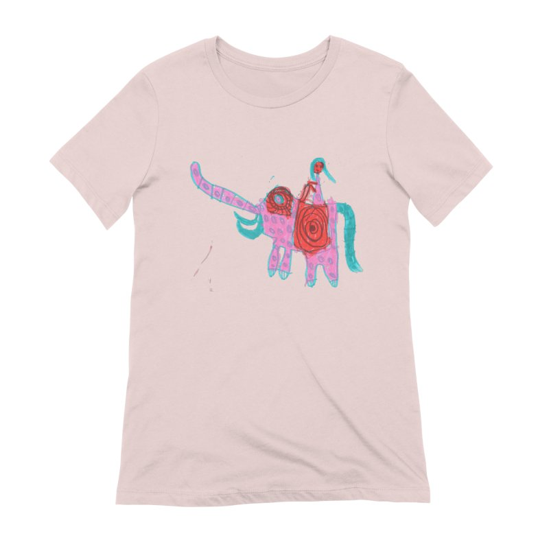 Elephant Rider Women's Extra Soft T-Shirt by The Life of Curiosity Store