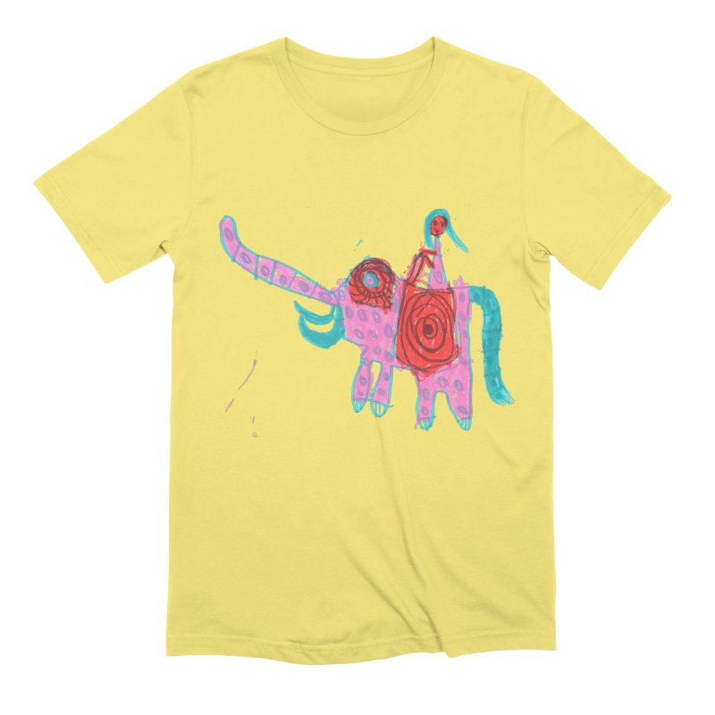 Elephant Rider Men's Extra Soft T-Shirt by The Life of Curiosity Store