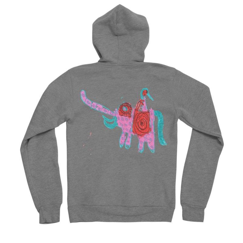 Elephant Rider Women's Sponge Fleece Zip-Up Hoody by The Life of Curiosity Store