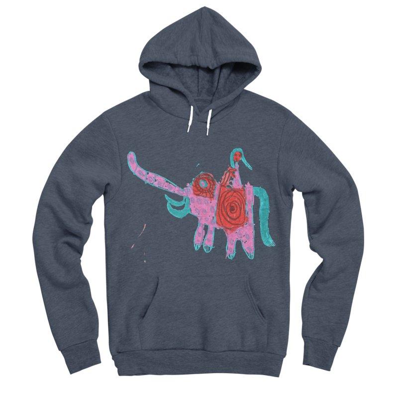 Elephant Rider Women's Sponge Fleece Pullover Hoody by The Life of Curiosity Store