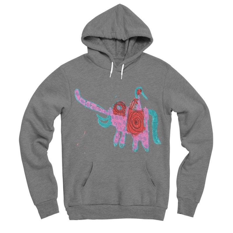 Elephant Rider Men's Sponge Fleece Pullover Hoody by The Life of Curiosity Store