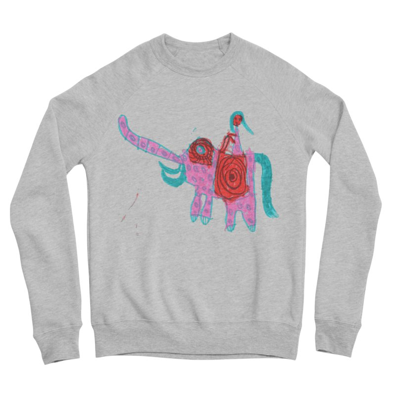 Elephant Rider Women's Sponge Fleece Sweatshirt by The Life of Curiosity Store