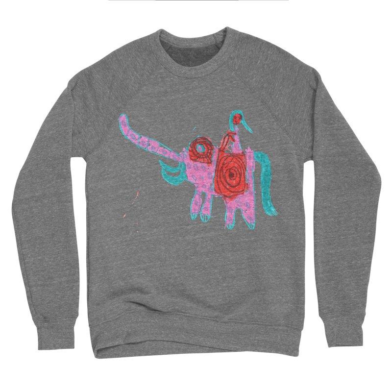 Elephant Rider Men's Sponge Fleece Sweatshirt by The Life of Curiosity Store