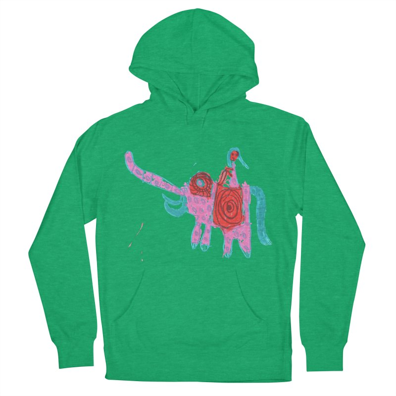 Elephant Rider Men's French Terry Pullover Hoody by The Life of Curiosity Store
