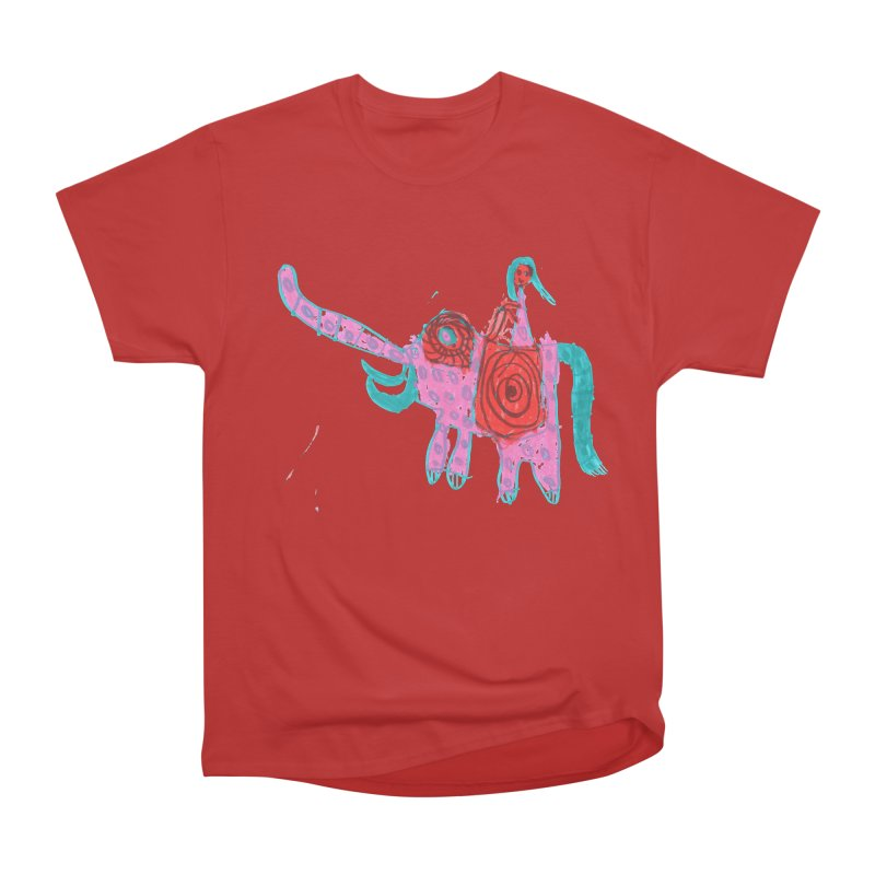 Elephant Rider Women's Heavyweight Unisex T-Shirt by The Life of Curiosity Store