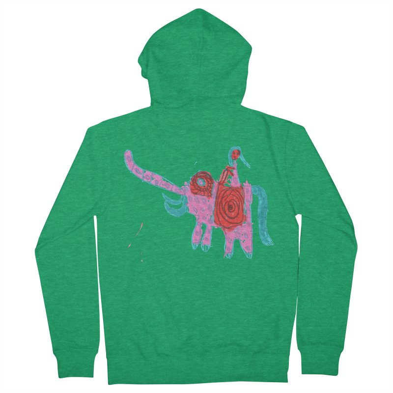 Elephant Rider Men's French Terry Zip-Up Hoody by The Life of Curiosity Store