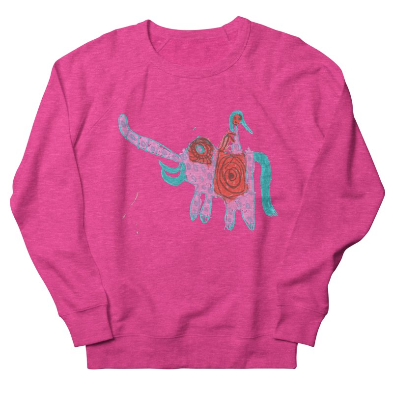 Elephant Rider Women's French Terry Sweatshirt by The Life of Curiosity Store