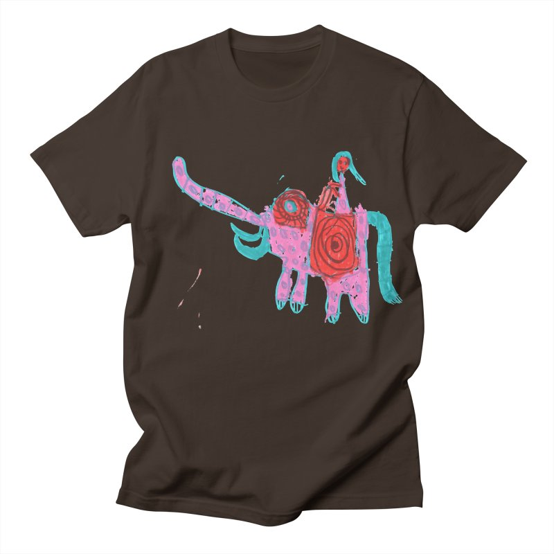 Elephant Rider Men's Regular T-Shirt by The Life of Curiosity Store