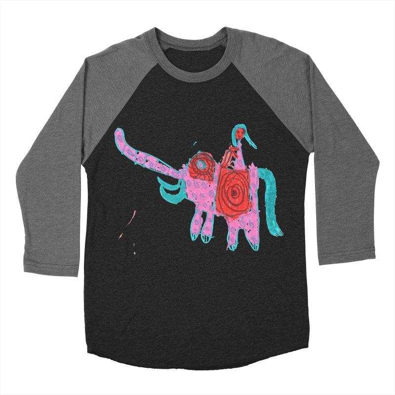 Elephant Rider Women's Baseball Triblend Longsleeve T-Shirt by The Life of Curiosity Store