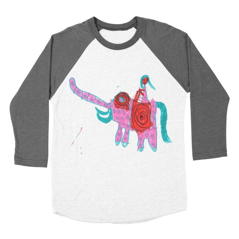 Elephant Rider Men's Baseball Triblend Longsleeve T-Shirt by The Life of Curiosity Store