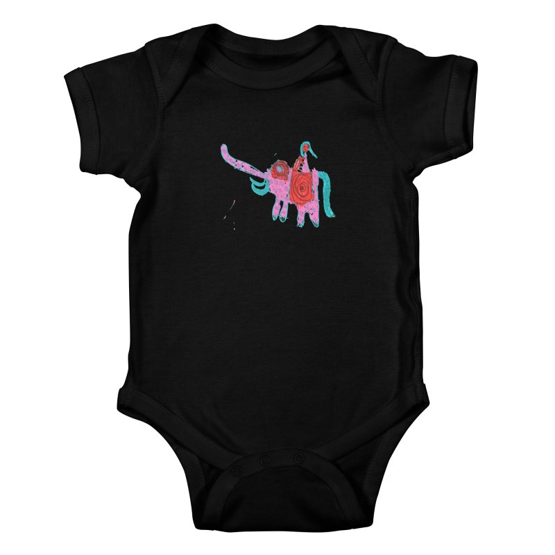 Elephant Rider Kids Baby Bodysuit by The Life of Curiosity Store