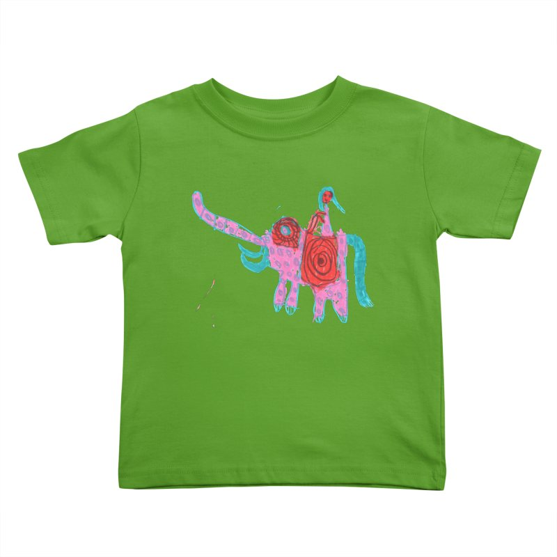 Elephant Rider Kids Toddler T-Shirt by The Life of Curiosity Store