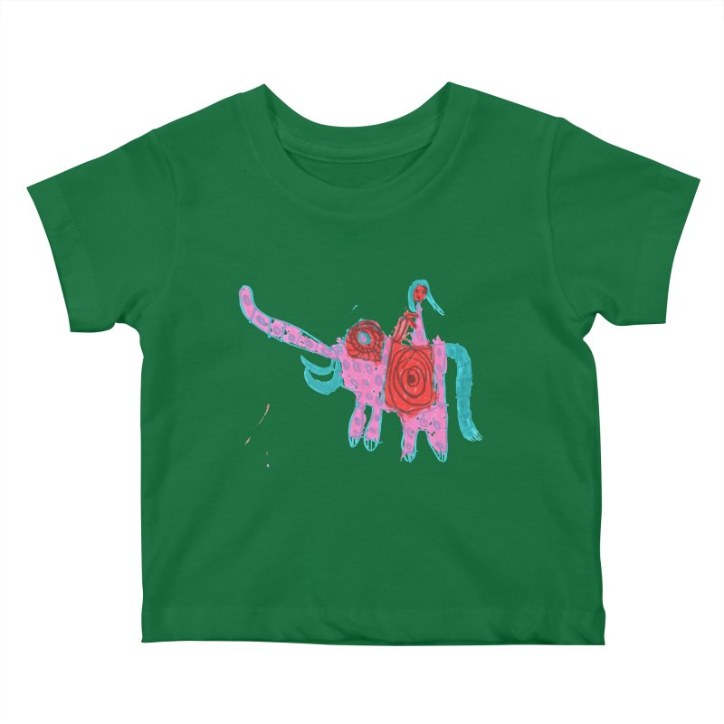 Elephant Rider Kids Baby T-Shirt by The Life of Curiosity Store